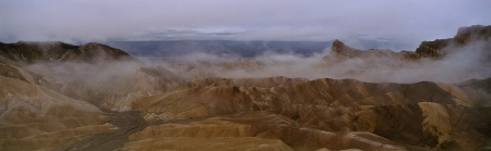 An Uneventful Image of Zabriskie Point with fog (click for larger version)